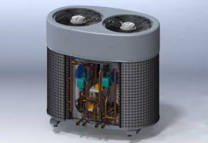Фигура 5. Адсорбциенен хладилен агрегат за битови нужди – SOLABCHILLER.
