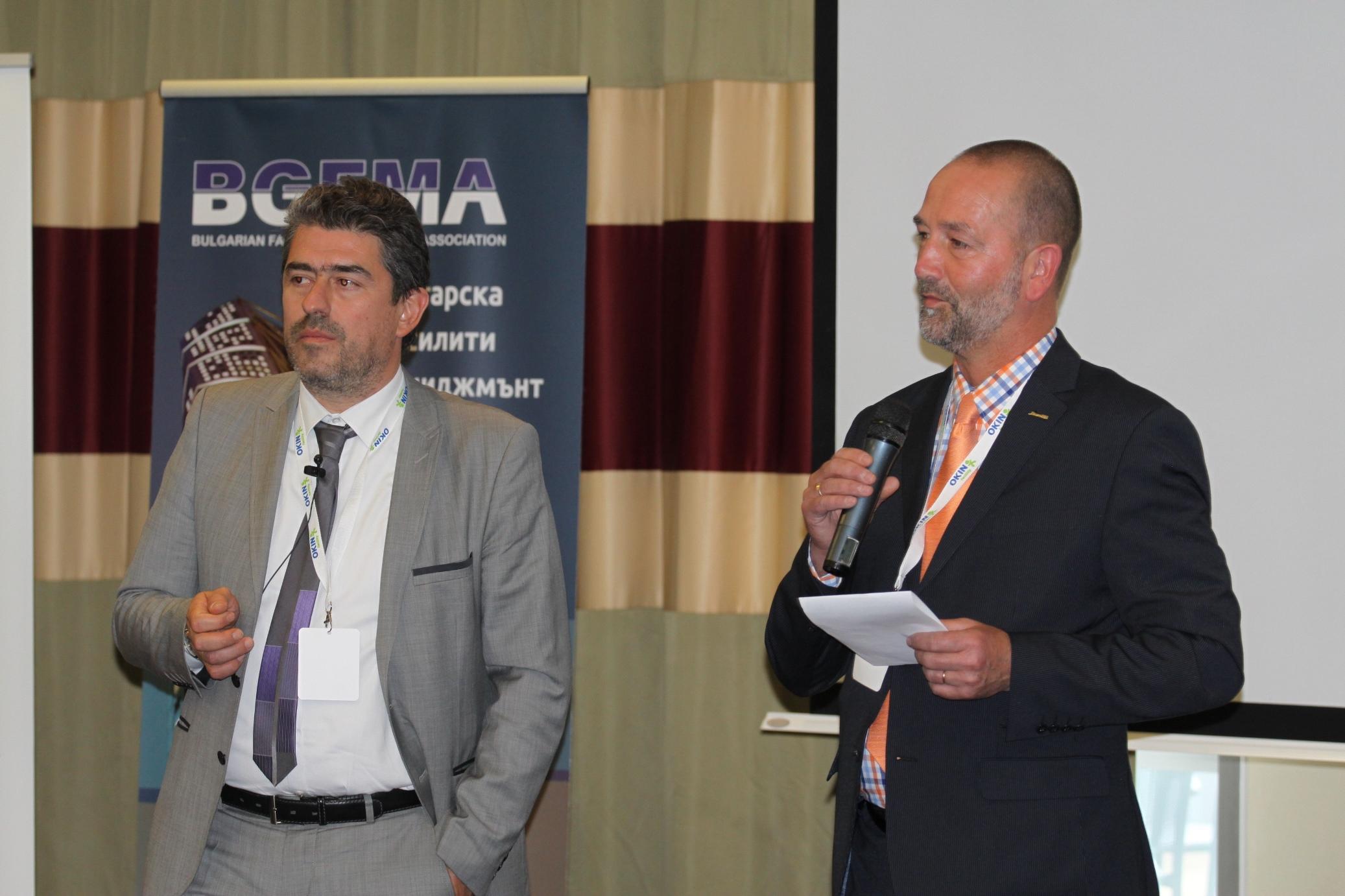Горан Миланов и Рон ван дер Веерд по време на ФМ конференция в София